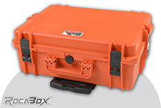 Rocabox - Waterproof IP67 Universal Trolley Case - Orange - RW-5035-19-OFTR - Cubed Foam