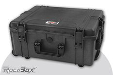 Rocabox - Waterproof IP67 Universal Trolley Case - Black - RW-5440-24-BFTR - Cubed Foam