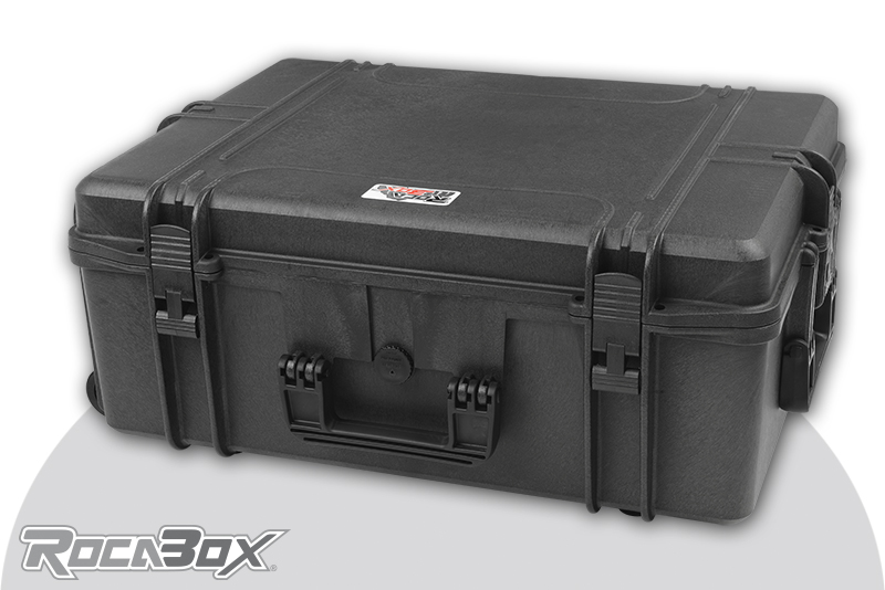 Rocabox - Waterproof IP67 Universal Trolley Case - Black - RW-6246-25-BFTR - Cubed Foam