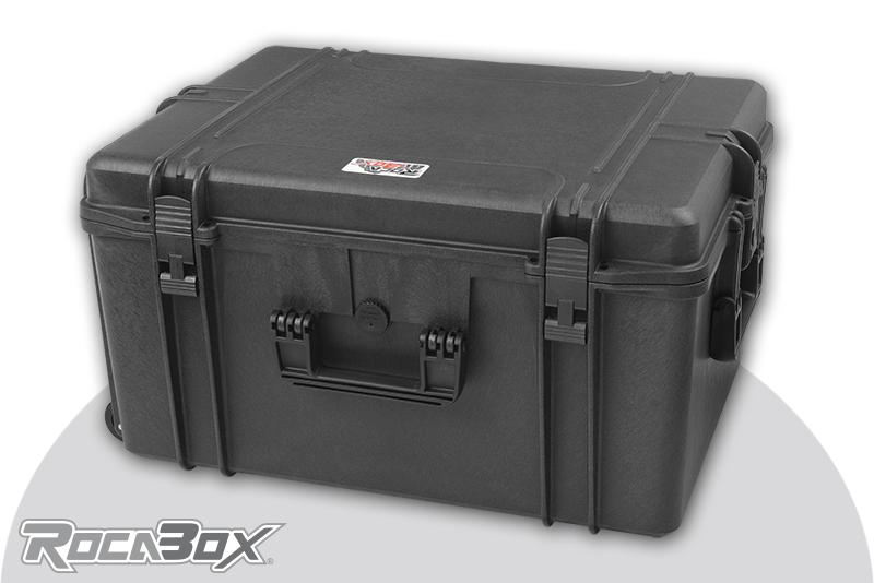 Rocabox - Waterproof IP67 Universal Trolley Case - Black - RW-6246-34-BFTR - Cubed Foam