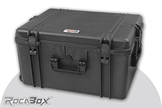 Rocabox - Waterproof IP67 Universal Trolley Case - Black - RW-6246-34-BFTR - Cubed Foam