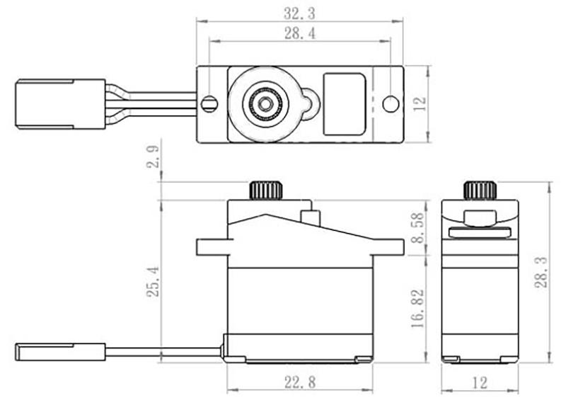 Savox - Servo - SH-0257MG - Digital - DC Motor - Metal Gear