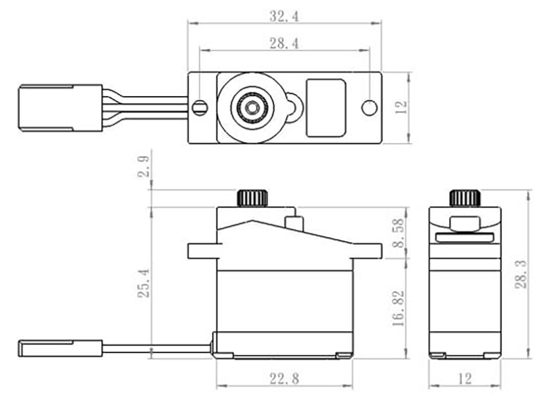Savox Servo Sh 0262mg Digital Dc Motor Metal