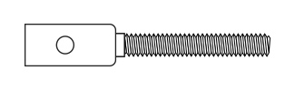 Threaded Coupler - Carbon Rod